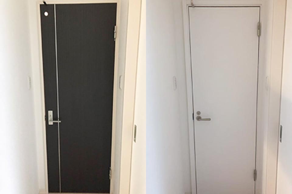 画像:ドアのカーバ工法
