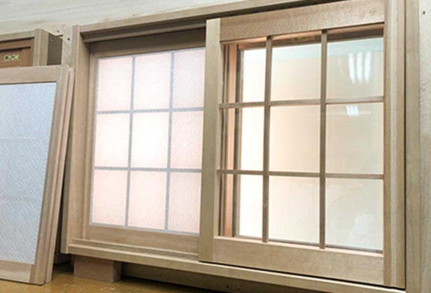 画像:指只オリジナル木製エコ内窓「モコ窓」