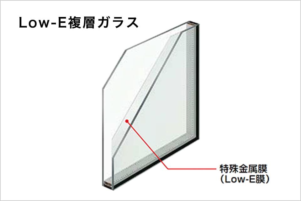 画像:Low-E複層ガラス
