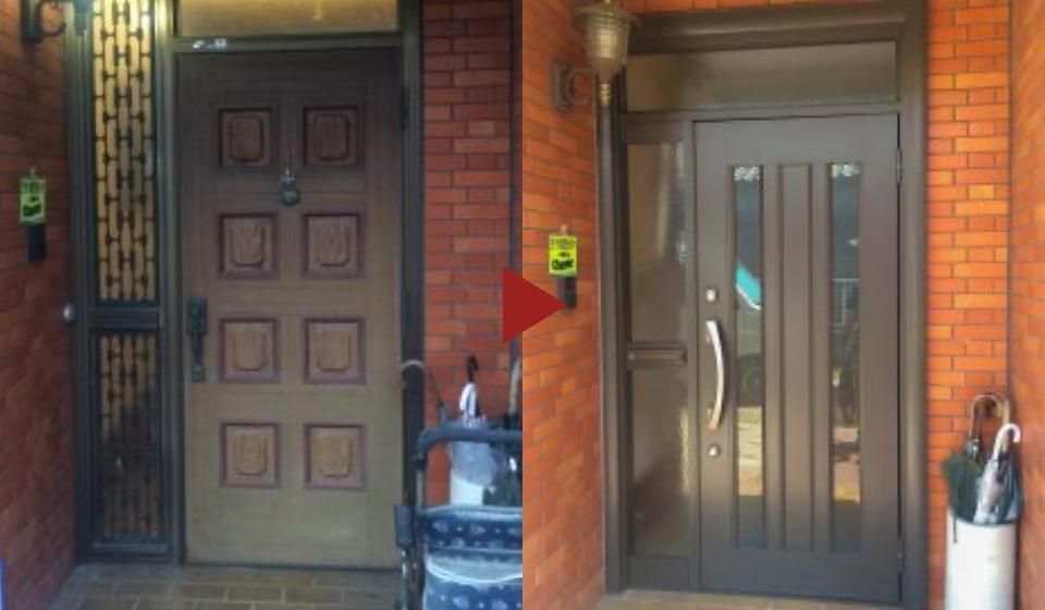 画像:扉の取り替え