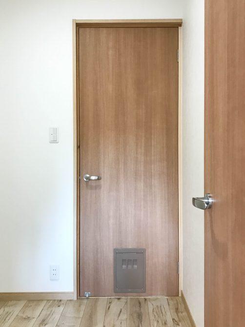 ペット用片開き戸